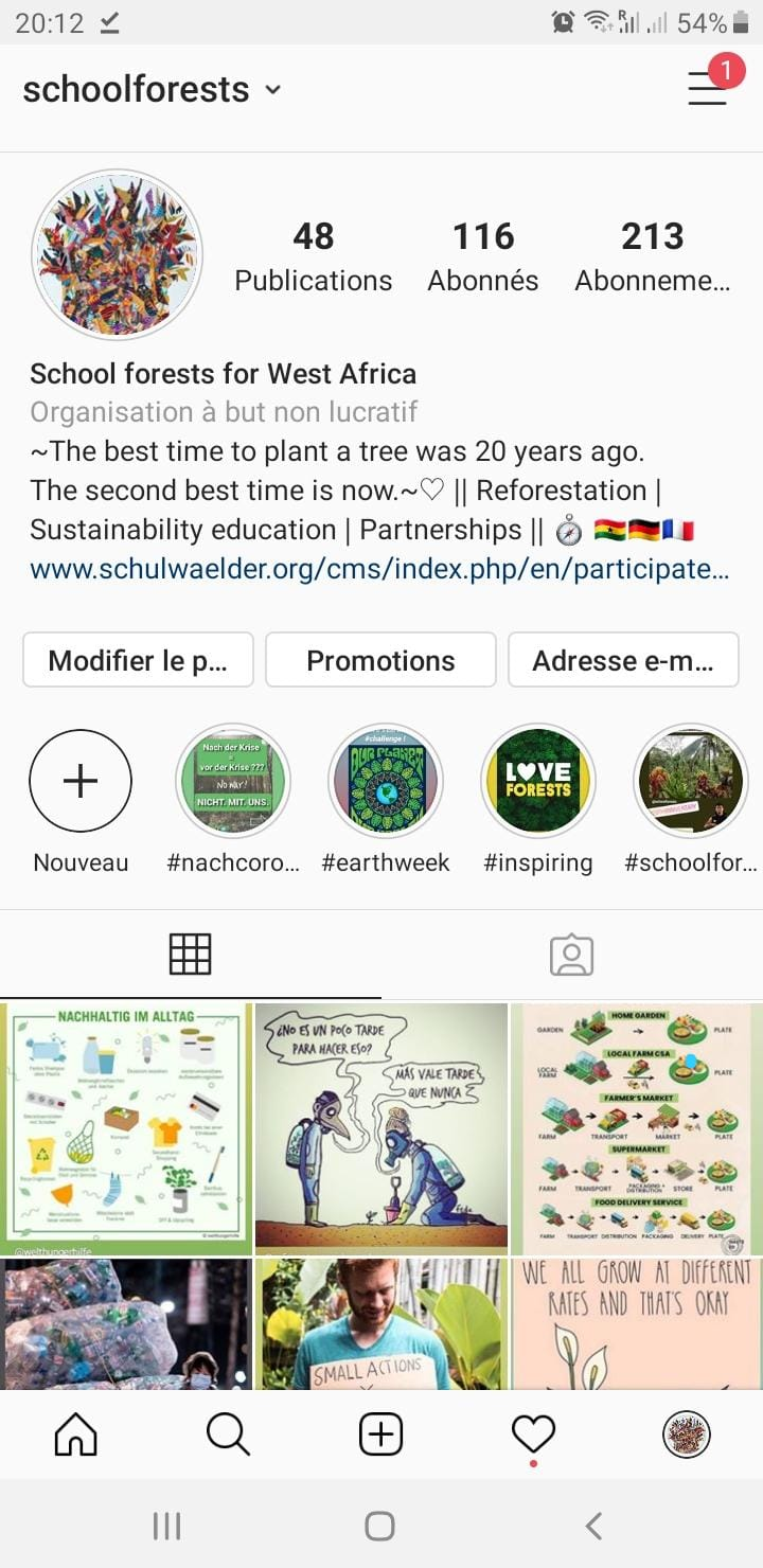 schoolforests instagram